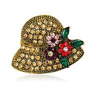 hesapli -Kadın's Broşlar Euramerican Moda Yapay Elmas alaşım Geometric Shape Çeşitli Renk Mücevher Uyumluluk Düğün Parti Özel Anlar Günlük