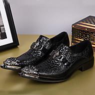 Masculino-Oxfords-Sapatos formaisPreto-Pele Napa-Ar-Livre Escritório & Trabalho Casual Festas & Noite