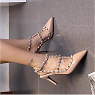 Χαμηλού Κόστους -Γυναικεία Παπούτσια Συνθετικά Άνοιξη Ανατομικό Τακούνια Τακούνι Στιλέτο Μυτερή Μύτη Χάντρες Φούξια / Κόκκινο / Δερματί / Φόρεμα