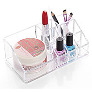 cheap Storage & Organization-Quadrate Makeup Storage Stand Brush Pot Holder Cosmetic Organizer for Lipstick Nail Polish