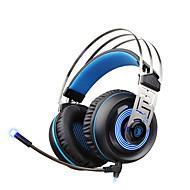 billiga Headsets och hörlurar-A7 Över örat / Headband Kabel Hörlurar Dynamisk Plast Spel Hörlur Ljudisolerande / mikrofon / Med volymkontroll headset