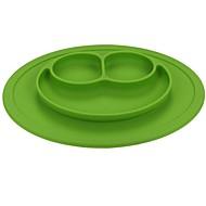 billiga Bordsservis-1 st nya barn barn barn mat placemat endelad silikon delad tallrik skål tallrikar