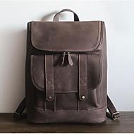 tanie Plecaki-Dla obu płci Torby Skóra bydlęca plecak na Na wolnym powietrzu Na każdy sezon Brown Coffee