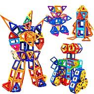Blocos de Construir Blocos Magnéticos Brinquedos Magnéticos de Montar Brinquedos Quadrada Circular Triângulo Robô 3D Magnética