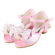 お買い得  フラワーガールシューズ-女の子 靴 レザーレット 夏 秋 フラワーガールシューズ アイデア コンフォートシューズ ウェディングシューズ ウォーキング リボン ベックル のために 結婚式 カジュアル パーティー ドレスシューズ ホワイト ピンク