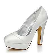 cheap Women's Shoes-Women's Shoes Silk Winter Fall Comfort Dyeable Shoes Heels Chunky Heel Round Toe Closed Toe for Wedding Office & Career Dress Party &