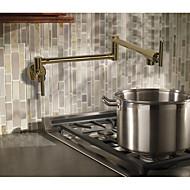 Art Deco/Retro Kantri Moderni Pot Filler Integroitu Laajallle ulottuva Pyörivä Keraaminen venttiili Kaksi kahvaa yksi reikä Ruusukulta ,