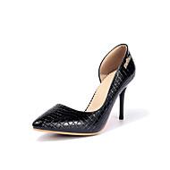Feminino Saltos Sapatos formais Borracha Primavera Outono Casual Social Festas & Noite Sapatos formais Salto AgulhaPreto Vermelho Azul