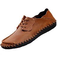 Męskie Mokasyny i pantofle Comfort PU Wiosna Jesień Turystyka Płaski oncas Light Brown Płaski obcas
