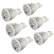 billige Spotlys med LED-5W GU10 LED-spotpærer R63 5 leds Høyeffekts-LED Dekorativ Varm hvit Kjølig hvit 400-450lm 3000/6000K AC 220-240 AC 110-130V