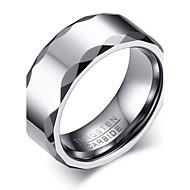 Pánské Prsten Základní design Módní Přizpůsobeno Euramerican minimalistický styl bižuterie Volframová ocel Circle Shape Round Shape