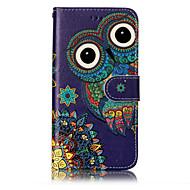 billiga Mobil cases & Skärmskydd-fodral Till Huawei P9 Lite Huawei Huawei P8 Lite Korthållare Plånbok med stativ Lucka Mönster Läderplastik Fodral Uggla Hårt PU läder för