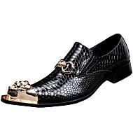 tanie Small Size Shoes-Męskie formalne Buty Skóra nappa Wiosna / Jesień Oksfordki Czarny / Impreza / bankiet