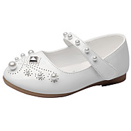 cheap Girls' Shoes-Girls' Shoes Leatherette Spring Fall Comfort Flats Imitation Pearl Rivet Magic Tape for Wedding Casual Office & Career Outdoor Party &