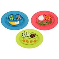 1pcs nieuwe peuter baby kids food placemat een stuk siliconen verdeelde schaal bordjes