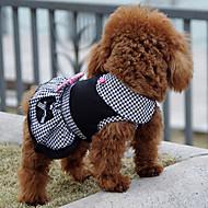 Χαμηλού Κόστους Χριστουγεννιάτικα κοστούμια για κατοικ-Σκύλος Φορέματα Ρούχα για σκύλους Πριγκίπισσα Μαύρο Βαμβάκι Στολές Για κατοικίδια Ανδρικά Γυναικεία Κλασσικό Χαριτωμένο Καθημερινά Γιορτή