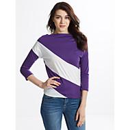 Dame - Stribet Moderne Stil Klassisk & Tidløs T-shirt