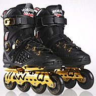 男性用 女性用 成人 インラインスケート 耐久性 耐摩耗性 快適 ゴールド/ブラック