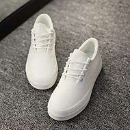 baratos Sapatos Femininos-Mulheres Sapatos Lona Primavera Verão Conforto Mocassins e Slip-Ons Sem Salto para Casual Branco Preto