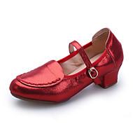 """billige Moderne sko-Dame Moderne Kunstlær Joggesko utendørs Lav hæl Gull Svart Sølv Rød 2 """"- 2 3/4"""" Kan ikke spesialtilpasses"""