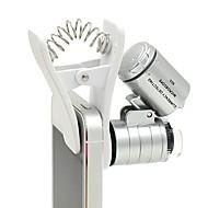 60x zoom ledet clip-type loupe mikroskop smykker forstørrelsesglas smykker loupe forstørrelsesmikrofon objektiv til universelle
