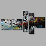 billiga Landskapsmålningar-Hang målad oljemålning HANDMÅLAD - Landskap Artistisk Abstrakt Modern Duk