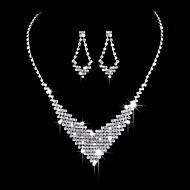 ieftine Bijuterii de Nuntă & Party-Pentru femei Zirconiu Cubic Set bijuterii - Zirconiu Cubic, Argintiu Inimă Modă, Elegant Include Cercei Picătură / Coliere Choker / Seturi de bijuterii de mireasă Argintiu Pentru Nuntă / Petrecere