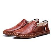 Homme Chaussures Tissu Printemps Automne Confort Mocassins et Chaussons+D6148 Marche Pour Décontracté Noir Marron
