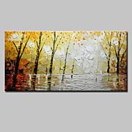 billiga Oljemålningar-Hang målad oljemålning HANDMÅLAD - Blommig / Botanisk Europeisk Stil Moderna Duk