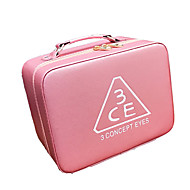 Women Bags All Seasons PU Cosmetic Bag for Stage Blushing Pink Amethyst