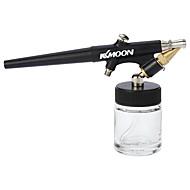 Kkmoon de înaltă atomizare sifon de alimentare airbrush o singură acțiune aer set perie pentru machiaj pictura arta tatuaj manichiura