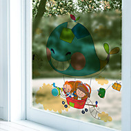 cheap Window Film & Stickers-Animal Contemporary Window Sticker, PVC/Vinyl Material Window Decoration Dining Room Bedroom Office Kids Room Living Room Bath Room Shop