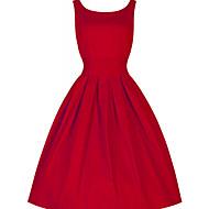 Γυναικεία Βίντατζ / Κομψό στυλ street Βαμβάκι Παντελόνι - Μονόχρωμο Κόκκινο Πράσινο του τριφυλλιού / Πάρτι