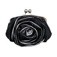 baratos Clutches & Bolsas de Noite-Mulheres Bolsas Poliéster Bolsa de Pulso Lantejoulas Branco / Preto / Amêndoa