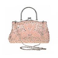 billiga Kvälls-handväska-ador® damväskor polyesteraftonpåse imitation pärla solidfärgad röd / grå / ametyst