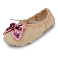 billige Ballettsko-Ballettsko Lerret Flate Sløyfe(r) Flat hæl Kan ikke spesialtilpasses Dansesko Grønn / Blå / Rosa / Innendørs