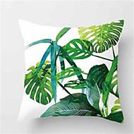 1 stk mode tropisk plante sofa pude fersken hud pudebetræk