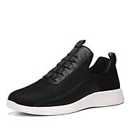 Masculino sapatos Couro Ecológico Lona Verão Outono Conforto Solados com Luzes Tênis Caminhada Para Atlético Branco Preto
