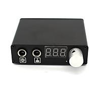LCD Máquina de tatuagem Fonte de alimentação digital potência profissional Cordão do grampo Interruptor de pé Tomada