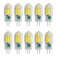 tanie Więcej Kupujesz, Więcej Oszczędzasz-YWXLIGHT® 10pcs 3W 250-300 lm G4 Żarówki LED bi-pin T 30 Diody lED SMD 2835 Ciepła biel Zimna biel Naturalna biel 220-240 V