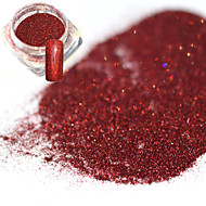 0.2g/bottle Fashion Charming Red Nail Art Glitter Holographic Fine Powder Laser Shining DIY Decoration Shining Pigment JX10