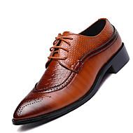 ieftine -Bărbați Pantofi Piele Primăvară Vară Confortabili Oxfords pentru Casual Negru Maro Vișiniu
