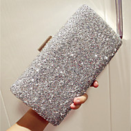 cheap Clutches & Evening Bags-Women's Bags PU Evening Bag Rhinestone for Event/Party Club Party & Evening All Seasons Gold Black Silver