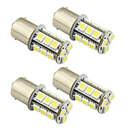 4 stuks 1156 / ba15s / 1157 3w led lampje 18 smd 5050 achterlicht / rem / draai / stoplicht dc 12v wit / warm wit