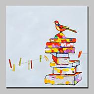 billiga POP Art-Hang målad oljemålning HANDMÅLAD - Popkonst Modern Inkludera innerram