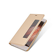 billiga Mobil cases & Skärmskydd-fodral Till huawei P9 / Huawei / Huawei P9 Plus med fönster / Automatiskt sömn- / uppvakningsläge / Lucka Fodral Enfärgad Hårt PU läder för P10 Plus / P10 / Huawei P9 Plus