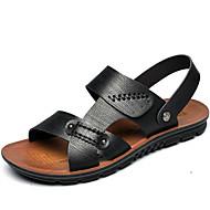 """גברים סנדלים נוחות עור סתיו חורף שמלה נעלי ספורט מים נוחות שחור חום בהיר ס""""מ 2.54 - ס""""מ 4.45"""