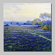 billiga Blom-/växtmålningar-Hang målad oljemålning HANDMÅLAD - Blommig / Botanisk Blomma / Modern Inkludera innerram