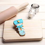 baratos Utensílios para Biscoitos-Ferramentas bakeware Aço Inoxidável Amiga-do-Ambiente / Férias / 3D Pão / Bolo / Biscoito Bebê de sono Molde 1pç