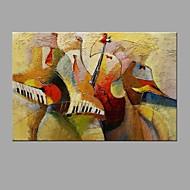 Maalattu AbstraktiAbstrakti Moderni/nykyaikainen 1 paneeli Kanvas Hang-Painted öljymaalaus For Kodinsisustus